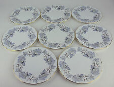 "8 x BREAD PLATES 6 1/4"" Royal Albert SILVER MAPLE vintage England bone china"