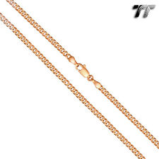 TT Gold Filled Curb Chain Necklace Width 3-5mm Length 45-60cm (CF156)