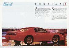Prospekt D+GB Pontiac Firebird Trans Am GTA 1989 Autoprospekt brochure brosjyre