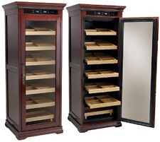 The Remington Electronic Cigar Humidor Display Case Holds 2000 Cigars