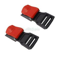 New Lot 2 Motorcycle Helmet Speed Clip Chin Strap Plastic Red Buckle