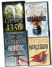 Bernard Cornwell Grail Quest Series 4 Books Collection Pack Set 1356, Heretic BN