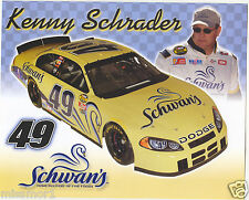 Kenny Schrader 2004 Schwans racing promotional picture signature card Dodge