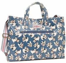 CATH KIDSTON BLUE BILLIE OPEN TOP CARRY ALL OILCLOTH WITH LONG STRAP BAG - BNWT!