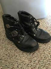HARLEY DAVIDSON Motorcycle Boots BLACK LEATHER Womans Size 7