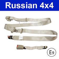 Sicherheitsgurt Statikgurt hinten UNIVERSEL für OLDTIMER  3-Punkt, beige Neu