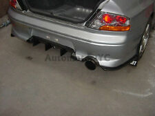 CARBON Kit For 01-05 Mitsubishi EVO 7 EVO 8 JDM Rear Bumper DAMD Extension
