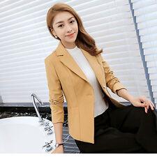 Beauty Women Long Sleeve Business Suit Jacket Blazer Slim OL Coat Casual Outwear