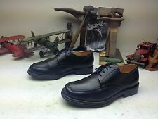 SANDRO MOSCOLONI ITALY BLACK LEATHER LACE UP ENGINEER BOSS SHOES 9-42