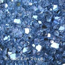 "25 LBS 1/4"" Pacific Blue Reflective Fireglass Fireplace Glass Fire Pit Crystals"