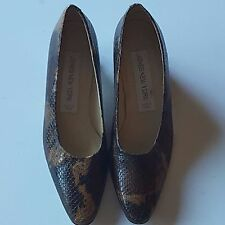 Jones New York Women's Snake Skin Classic High Heel Pumps Leather Sz 7.5M Brown