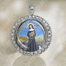 St Gertrude of Nivelles - Catholic Medal Patron of Cats Christian Pendant