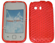 For Samsung Galaxy Y Young GT S5360 Pattern Gel Case Protector Cover Orange UK