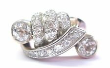 Fine Vintage Old European Diamond Rose Gold Twin 4-Row Ring 1.86Ct