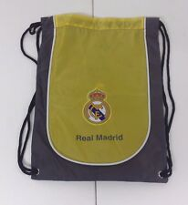 Real Madrid Cinch Bag Color Yellow & Gray Official Licensed Product NWOT