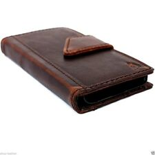 genuine vintage leather hard case for iphone 4 4s cover book wallet flip luxury