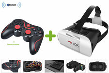 Uk stock-virtual Reality head Gear + bluetooth gamepad-bon marché Samsung VR Gear
