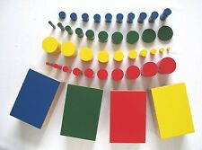 NEW Montessori Sensorial Material -Set of 4 Knobless Cylinders
