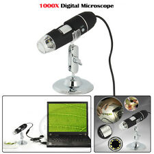 HD USB 1000X Magnifier Digital Microscope Endoscope PC Video Camera 8LED 2MP