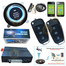 GSM + GPS Real Time Online Tracking SmartPhone SMS Car Alarm Start Push Button