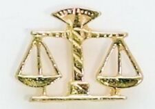 Scales of Justice Legal Law Judge Gold Lapel Insignia Pin Tac New