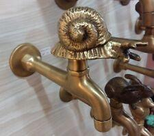 Spigots Toilet Faucet Handle Long Brass Vintage Snail Water TAP DECOR Wash Bowl