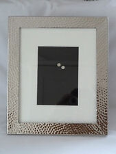 Laura Ashley Hammered Metal Photo Frame with Mount  -  NEW