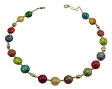Antica Murrina Frida--Murano Glass Bead Necklace+Matching Bracelet+Earrings