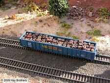 Hay Brothers BALED SCRAP METAL LOAD - fits N-Scale ATLAS 2743 Thrall Gondolas