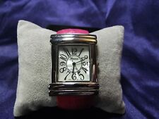 Woman's Geneva Cuff Watch with Rose Color Band **Nice**B68-Box 04