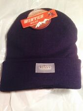 Warm Winter Wear Beanie Acrylic Knitted Cap W/5 Bright White LED Lights NAVY