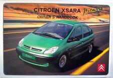 CITROEN XSARA PICASSO - Original Car Owners Handbook - Nov 2000- # N68-GB-3001/2