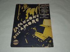 """SPARTITO MUSICALE DEL 1930 """"LA CANZONE DELL'AMORE"""" VALZER DAL FILM OMONIMO"""