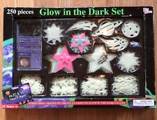 PLAY SPACES Glow in the Dark 250 Piece Ultimate Galaxy Set Space Star Chart NOS