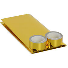 REFLECTIVE GOLD HEAT SHIELD TAPE FOR THERMAL RACING ENGINE 20'' x 20'' And Gift