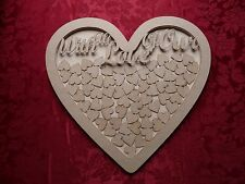 MDF Wooden Wedding drop box heart shape large Craft wall door hanging art
