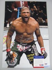 QUINTON 'RAMPAGE' JACKSON Hand Signed HUGE 12'x18' Photo + PSA DNA COA K04990