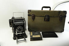 Graflex Anniversary Speed Graphic 4x5 Inch Camera 135mm f/4.7 Optar Lens, Case