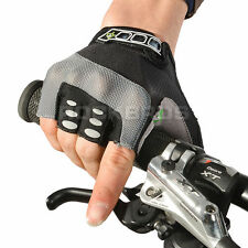 RockBros Cycling Bicycle Half Finger Gloves GeI Pad Outdoor Sport Gloves Black L