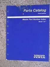 "1997 Volvo Penta Model ""LK"" Marine Engine Master Part Number Index Boat  U"