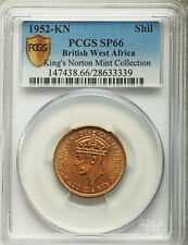 1952-KN British West Africa Shilling PCGS SP-66 Specimen Proof One Graded @ NGC