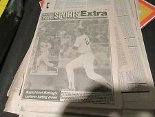 Don Mattingly , N.Y. Post , Newspaper Clipping / Poster ,10/1/1984 ,Sports Extra