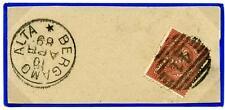 ITALIA - Regno - 1889 - Da Bergamo Alta -  2 cent. rosso mattone - Cifra