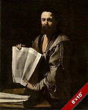 GREEK FATHER OF GEOMETRY MATHEMATICIAN EUCLID PORTRAIT PAINTING ART CANVAS PRINT