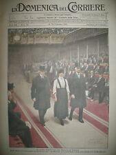 LADY ASTOR 1ere FEMME DéPUTéE ANGLAISE PARACHUTE LA DOMENICA DEL CORRIERE 1919