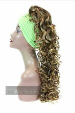 Synthetic Curly Wavy Style Ponytail with Combs and Drawstring Moonstone Color