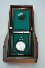 (E) RARE WW1 Era LONGINES Torpedo Boat Deck Chronometer US Navy Double Box N4095