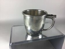 VINTAGE Baby Cup ADVERTISING SKIPPY COMICS  Whistle Cup Silver Plate Unique