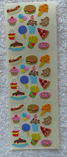 "Sandylion FAST FOOD JUNK FOOD MINI 1/4"" to 3/4"" Stickers RETIRED"
