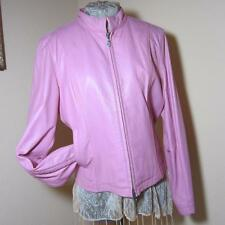 WILSONS LEATHER MAXIMA - PINK FITTED LEATHER JACKET, WOMEN'S SIZE L